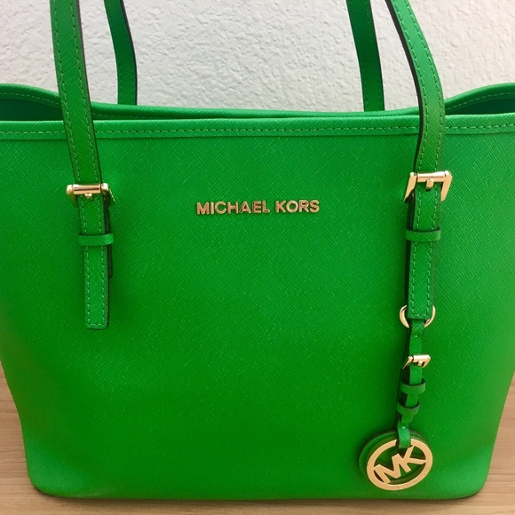 MICHAEL Michael Kors Handbags - Michael Kors Jet Set Tote Green